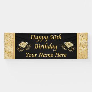 Cinquantième bannières magnifiques d'anniversaire