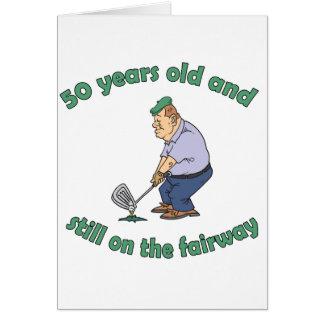 cinquantième Cadeau de bâillon de golfeur d'annive Cartes De Vœux