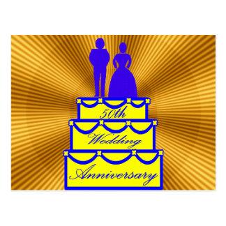 cinquantième Cadeaux d'anniversaire de mariage Carte Postale