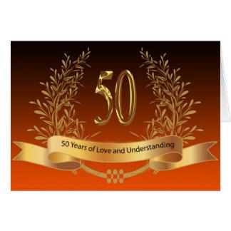 Cinquantième cartes heureuses d'anniversaire de