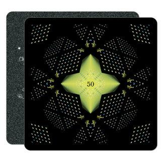 cinquantième Étoile de jaune d'anniversaire Carton D'invitation 13,33 Cm