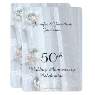 cinquantième Fête d'anniversaire de mariage, Carton D'invitation 12,7 Cm X 17,78 Cm