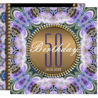 Cinquantième invitation d'anniversaire de bohémien