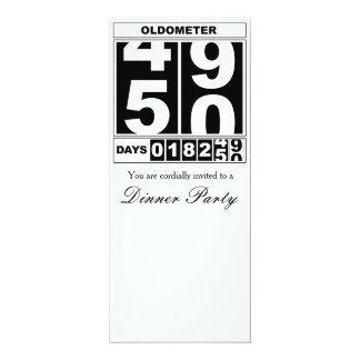 cinquantième Invitation d'Oldometer d'anniversaire