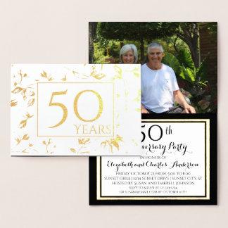 Cinquantième invitations d'anniversaire de mariage