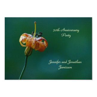 cinquantième Lis de jaune d'invitation de fête Carton D'invitation 12,7 Cm X 17,78 Cm