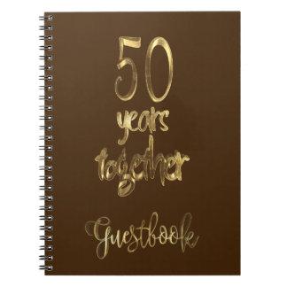 cinquantième Texte d'or de livre d'invité