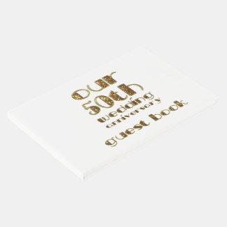 cinquantième Typographie de blanc d'or Livre D'or