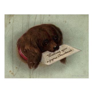Circa 1860 : Une carte de Noël victorienne