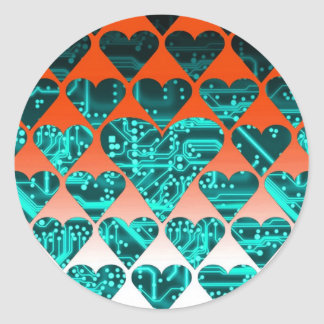 circuit d'amour, cyan sticker rond