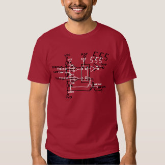 Circuit schématique de puce de minuterie du tee shirt