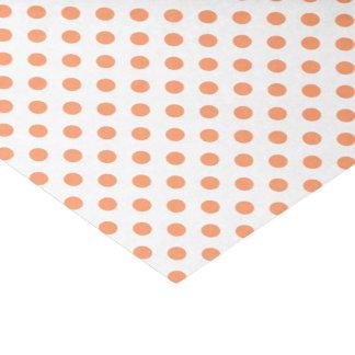 Cirkels van de Stippen van de mandarijn de Oranje Tissuepapier