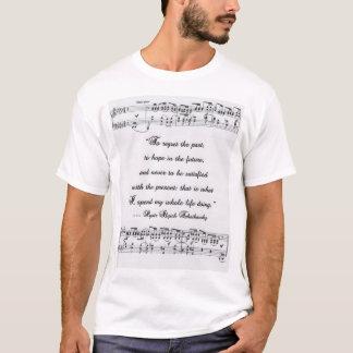 Citation 2 de Tchaikovsky avec la notation T-shirt
