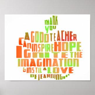 Citation Apple de typographie d'affiche de cadeau