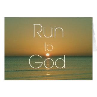 Citation chrétienne inspirée courue à Dieu Carte