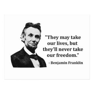 Citation d'Abraham Lincoln Troll Cartes Postales