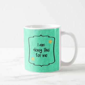 Citation d'affirmation de motivation mug blanc