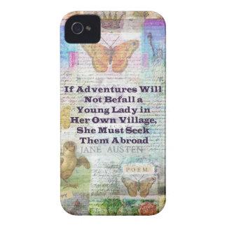 Citation d'aventure de voyage de Jane Austen Coque iPhone 4 Case-Mate