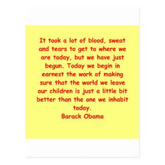 citation de Barack Obama Carte Postale