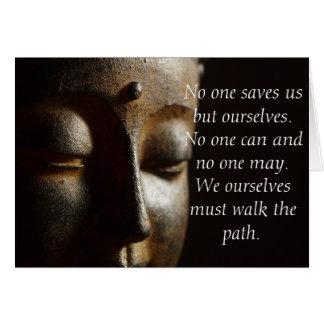 Citation de Bouddha : Carte inspirée