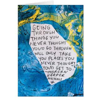 Citation de carte de voeux d'encouragement