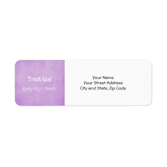 Citation de Dieu de confiance Étiquette D'adresse Retour