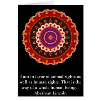 Citation de droits des animaux d'Abraham Lincoln Carte De Vœux