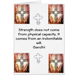 Citation de motivation inspirée de Gandhi Carte