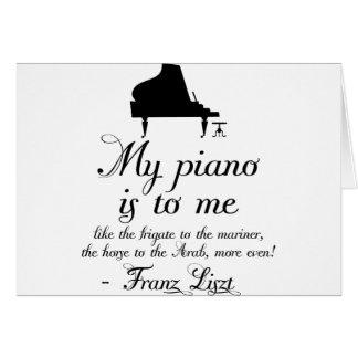 Citation de musique classique de piano de Liszt Carte