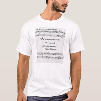 Citation de Mussorgsky avec la notation musicale T-shirt