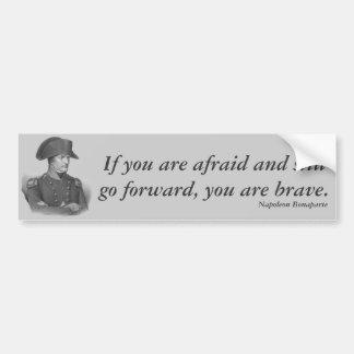 Citation de Napoleon Bonaparte Autocollant De Voiture