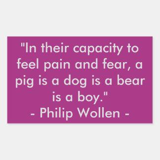 Citation de Philip Wollen - activiste de droits Sticker Rectangulaire