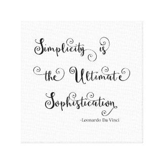 Citation de simplicité - toile