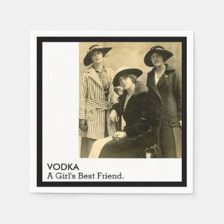 Citation drôle de femmes vintages de meilleur ami serviettes jetables