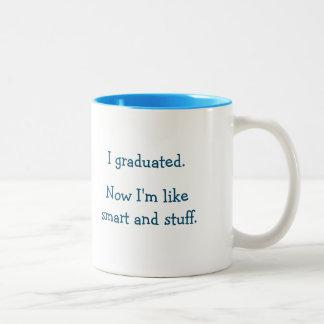 Citation drôle d'obtention du diplôme de substance mug bicolore