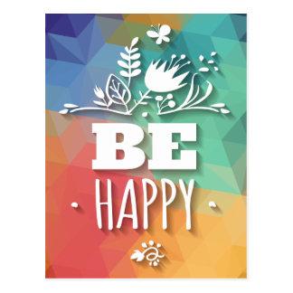 Citation florale heureuse abstraite de la vie carte postale
