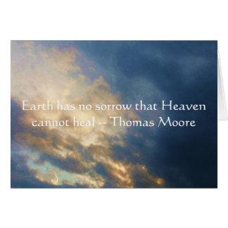 Citation inspirée de Thomas Moore avec le ciel Carte