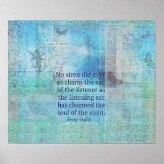 Citation lunatique de poème d'art de sirène de