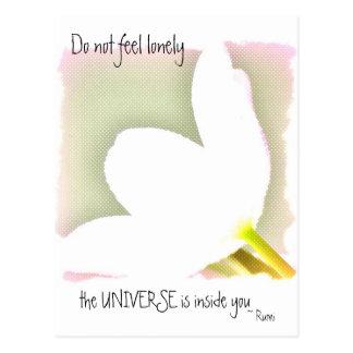 Citation pointillée de Rumi de tulipe Carte Postale