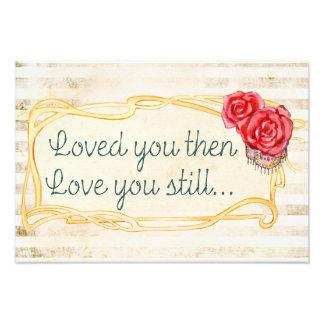 Citation romantique inspirée d'amour impression photo