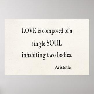 Citation simple d'âme d'amour vintage d'Aristote