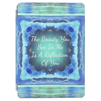 Citation turquoise de réflexion de beauté de bleu protection iPad air