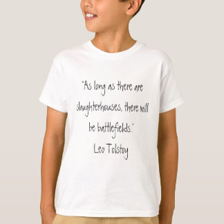 Citation végétarienne de Tolstoy T-shirt