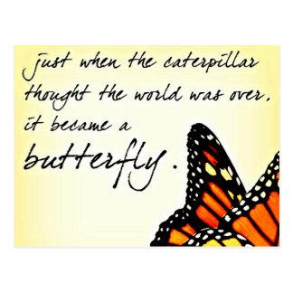 Citations inspirées de lutte de la vie de papillon carte postale