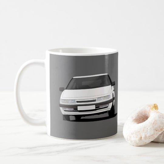 Citroën XM dans le blanc - deux images par Mug Blanc