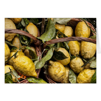 Citrons italiens élégants de côte d'Amalfi de Carte