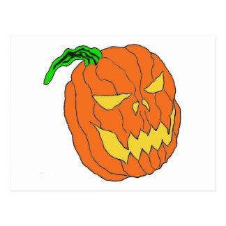 Citrouille de Halloween Carte Postale