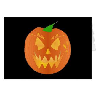 Citrouille de Halloween dans le noir I Carte De Vœux