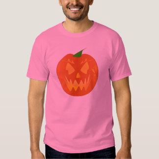 Citrouille de Halloween dans le rose Tee Shirt