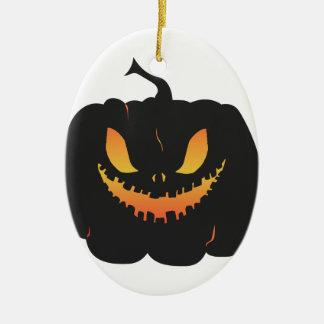 Citrouille de Halloween Ornement Ovale En Céramique